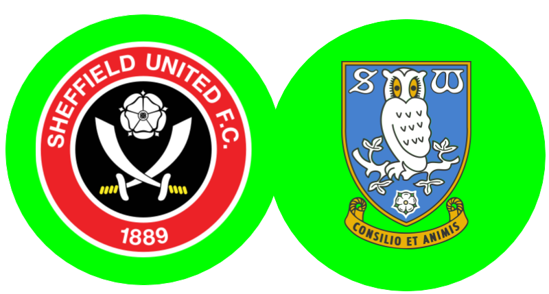 Blades and Owls logos surrounded in Green.